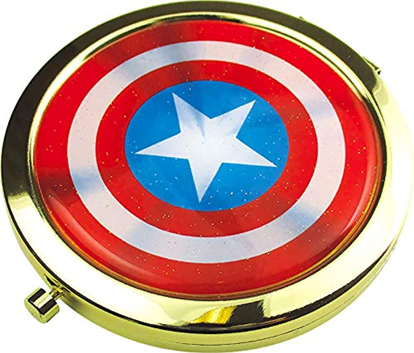 工場劇場近代化するティーズファクトリー 鏡 マーベル キャプテン?アメリカ Wコンパクトミラー MV-5537052CA