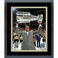 Mario Lemieux Pittsburgh Penguins 2017 Stanley Cup Trophyフォト(サイズ: 22.5