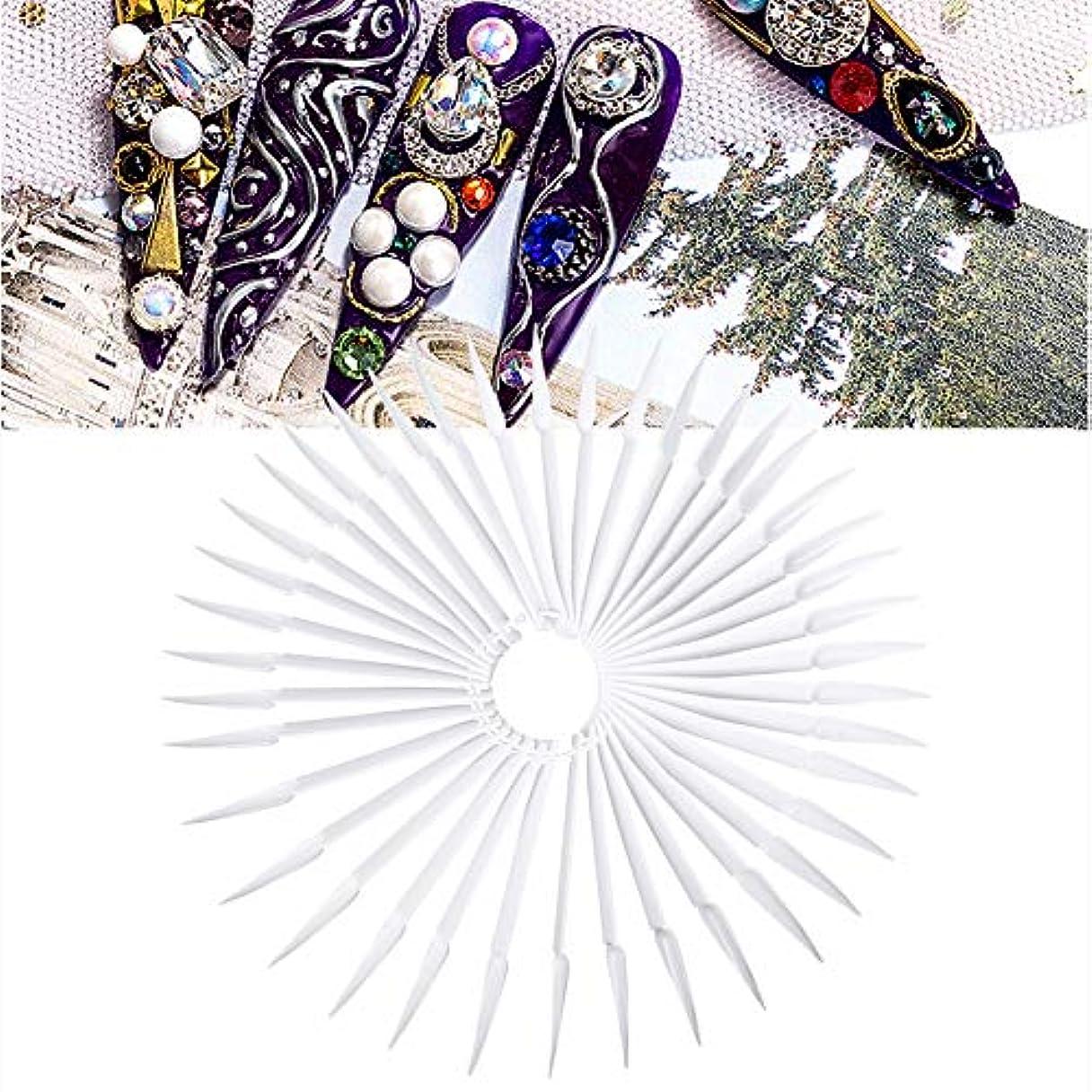 集団的トレイ反動40色 マニキュア ポーランドゲル カラー ディスプレイ 練習ツール(ホワイト)
