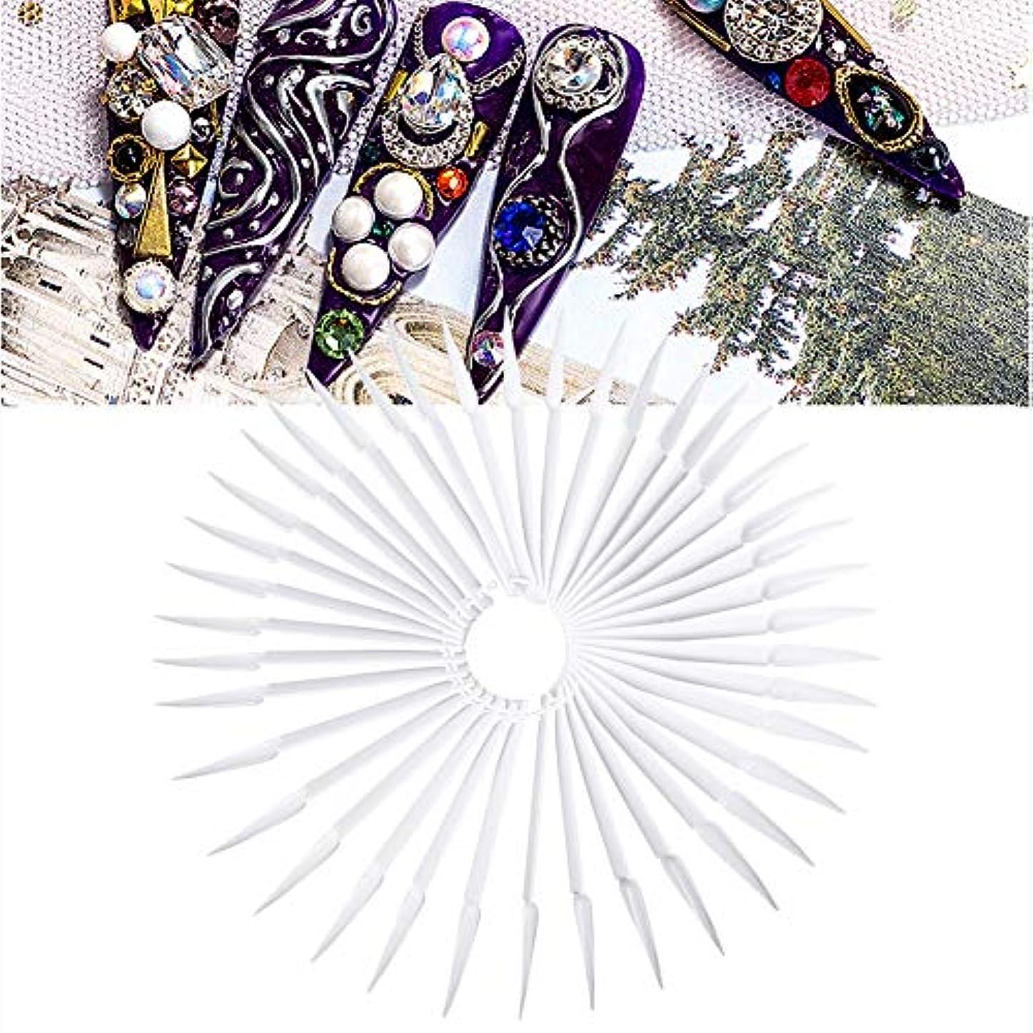 冒険者雄弁家雷雨40色 マニキュア ポーランドゲル カラー ディスプレイ 練習ツール(ホワイト)