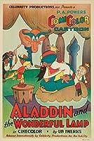 アラジンと魔法のランプビンテージポスター(アーティスト: Iwerks ) USA C。1936 24 x 36 Giclee Print LANT-62119-24x36