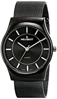 PEUGEOT (プジョー) 腕時計 並行輸入品 Peugeot Men's 1002GN Black Stainless Steel Watch with Mesh Bracelet 1002GN