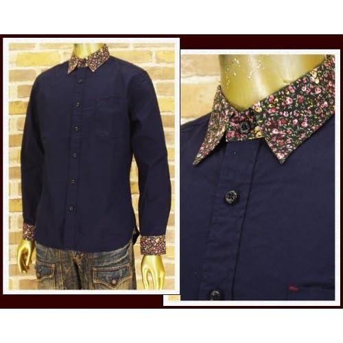 キャンディファンタジー CANDY FANTASY クレリック ブロード ロングシャツ メンズ 14012-3 ネイビー L