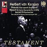 R.シュトラウス : ツァラトゥストラはかく語りき | モーツァルト : 協奏交響曲 変ホ長調 ~ 1970年 ザルツブルク ステレオ・ライヴ (Strauss : Also sprach Zarathustra | Mozart : Sinfonia Concertante, K.297b ~ Recorded at the Salzburg Festival, August 1970 / Herbert von Karajan | Berliner Philharmoniker) [Import CD] [日本語帯・解説付]