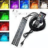 RGB LEDテープライト,Outeam USB式 防水 車内装飾用LEDテープ 音に反応サウンドセンサー内蔵 リモコン操作