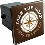 Graphics and More Take The Road Less Traveled Compass Tow Trailer Hitch Cover Plug Insert 2""