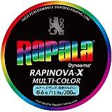 Rapala(ラパラ) ライン ラピノヴァXマルチカラー0.6号/13.9lb/6.3kg/200m RXC200M06MC