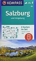KOMPASS Wanderkarte Salzburg und Umgebung 1 : 50 000: 2 Wanderkarten 1:50000 im Set inklusive Karte zur offline Verwendung in der KOMPASS-App. Fahrradfahren. Skitouren.