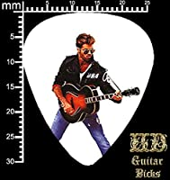 George Michael 1x single printed guitar pick plectrum medium gauge 0.71mm #2