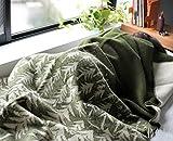 クリッパン(KLIPPAN)×ミナ ペルホネン(mina perhonen) 225102 ウールシングルブランケット ハウスインザフォレスト 130×180cm グリーン 【並行輸入品】