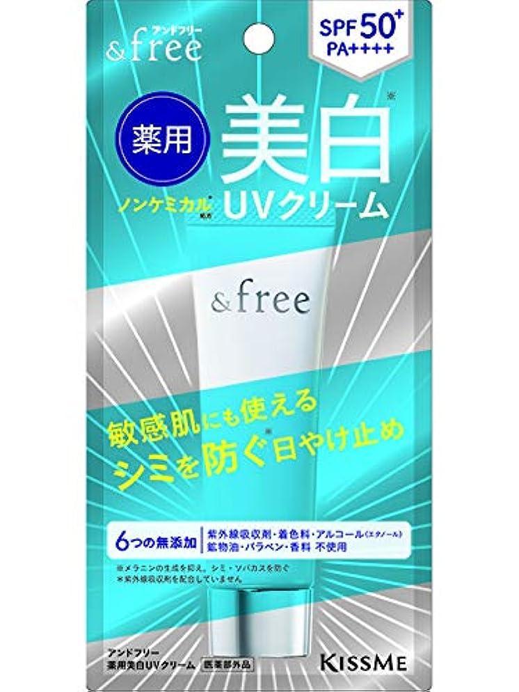 敬認識脅かすアンドフリー 薬用美白UVクリーム 30g