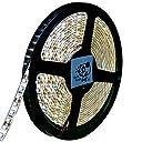 Smile Panda LEDテープライト 5m 防水 12V 電球色 白ベース 2835 600連 配線 20cm 0.5sq