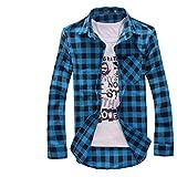 [ヒロハン] カジュアル シャツ 長袖 チェック ネルシャツ 柄 スタイル Yシャツ トップス オシャレ ファッション メンズ