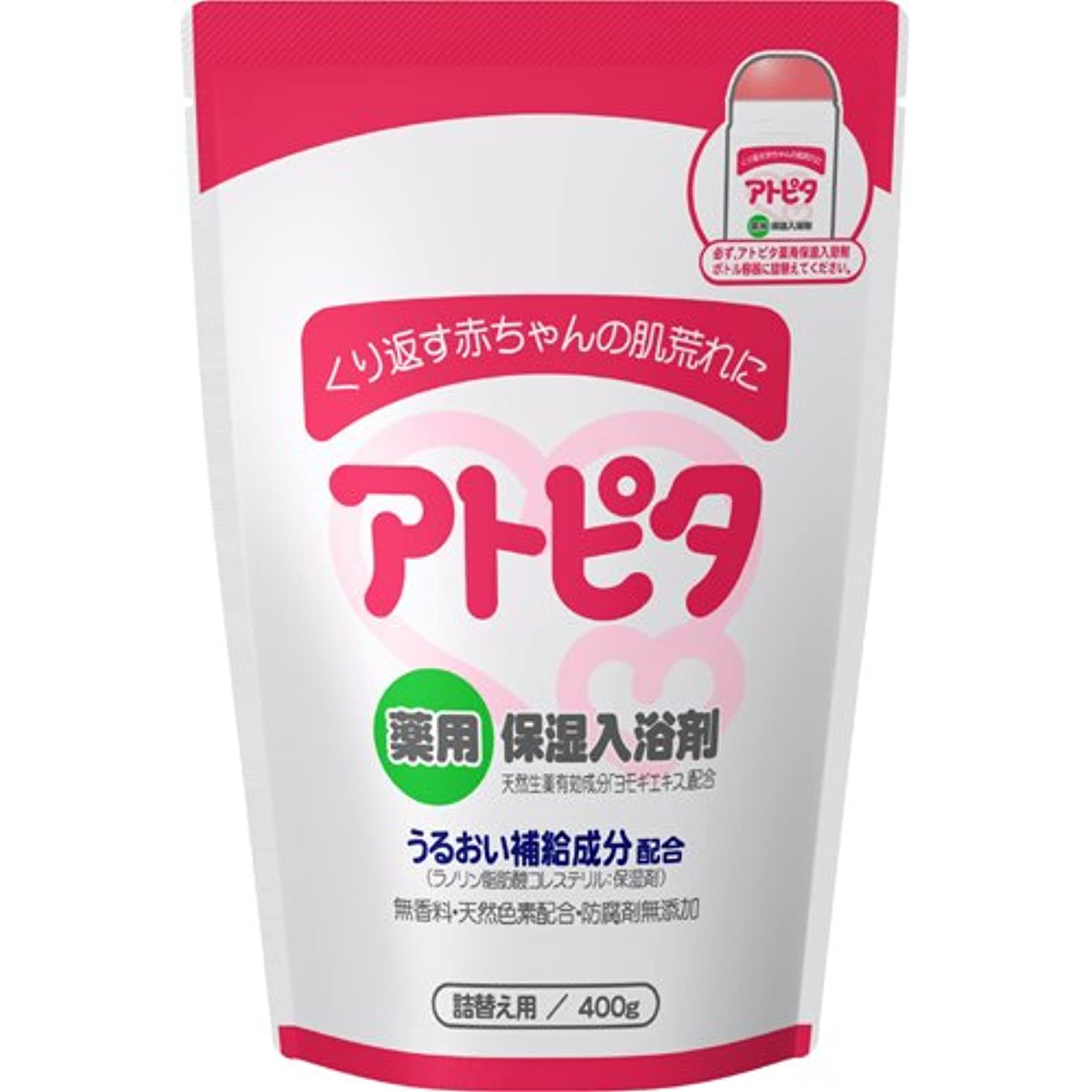 ちらつき著名な衣類新アルエット アトピタ 薬用入浴剤 詰替え 400g ×5個セット