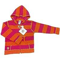 kashwere(カシウエア) キッズ ガールズ フルジップパーカー 2~7歳 (オレンジ/マゼンタ) Girl's Full Zip Hoodie (Orange/Magenta)