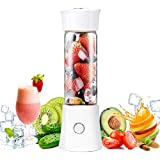 Portable Rechargeable Juice Blender, Household Fruit Mixer, TERSELY Personal Blender 480ml / 16.8OZ USB Juicer Cup for Home, Outdoors and Travelling[6 Blade / 22000RPM] - White