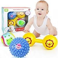 赤ちゃん早期教育開発おもちゃセットShake and Grap Baby Hand Rattleおもちゃ新生児幼児用