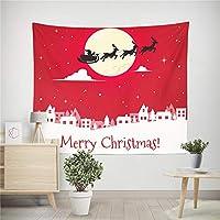壁のタペストリー ホームデコレーションタペストリー壁画クリスマスツリーを印刷 居間、玄関、寝室、子供部屋、居間、カフェ、レストラン、バーなどに最適です。 (色 : A3, サイズ : 150*200cm)