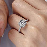 Ranipobo Square Full Diamond Ring Female Wedding Engagement Rings