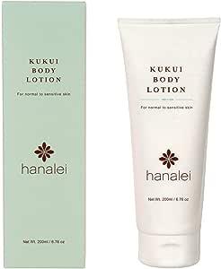 ククイボデーローション (ハナレイ)Kukui Body Lotion by Hanalei、シアバター、ホホバオイル、(動物実験無し、 パラベンフリー, 色素フリー) 米国製 (200mL)