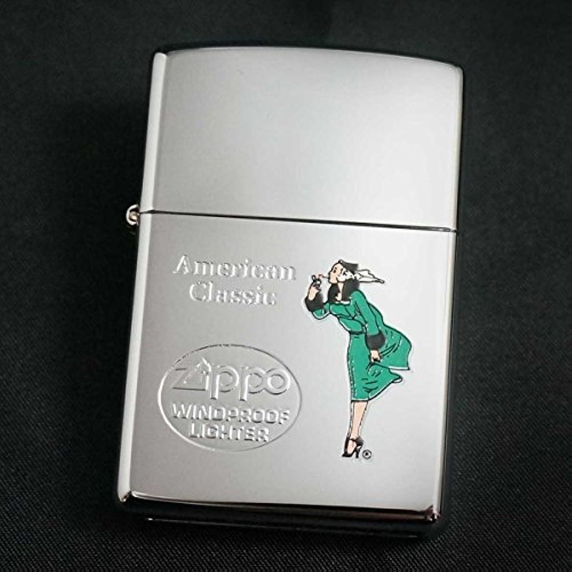 統計的アノイ安全なzippo(ジッポー)WINDY エッチング&プリント グリーン 2000年製造