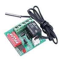 DROK DC 12V デジタル 加熱/冷却サーモスタット 20-90℃ 温度 コントローラ 0.5メートルセンサー プローブ ケーブル付き