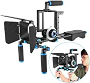 Neewer Aluminum Alloy Film Movie Rig System Kit for Canon Nikon Sony and other DSLR Cameras,Includes:(1)Video