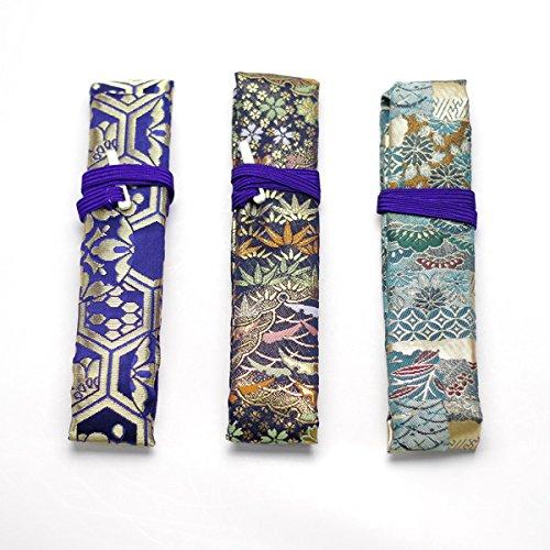 【お買い得】篠笛袋(柄おまかせ・色指定)青・紺系