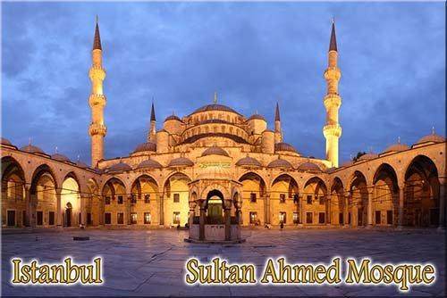 Sultan Ahmed Mosque Istanbul Turkey fridge magnet 75x50mm スルタンアフメト・モスク-イスタンブール-トルコ-冷蔵庫のマグネット