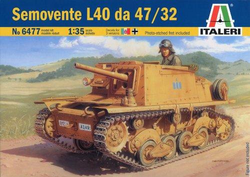 タミヤ イタレリ 1/35 ミリタリーシリーズ 6477 イタリア 自走砲 セモベンテ L40 da 47/32 38477