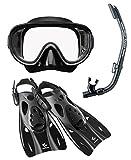 リーフツアラー マスク シュノーケル フィン 3点セット RP0102 ブラック Mサイズ