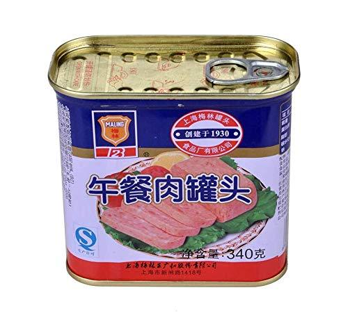 梅林午餐肉 ランチョンミート 味付け豚肉 340g×4点