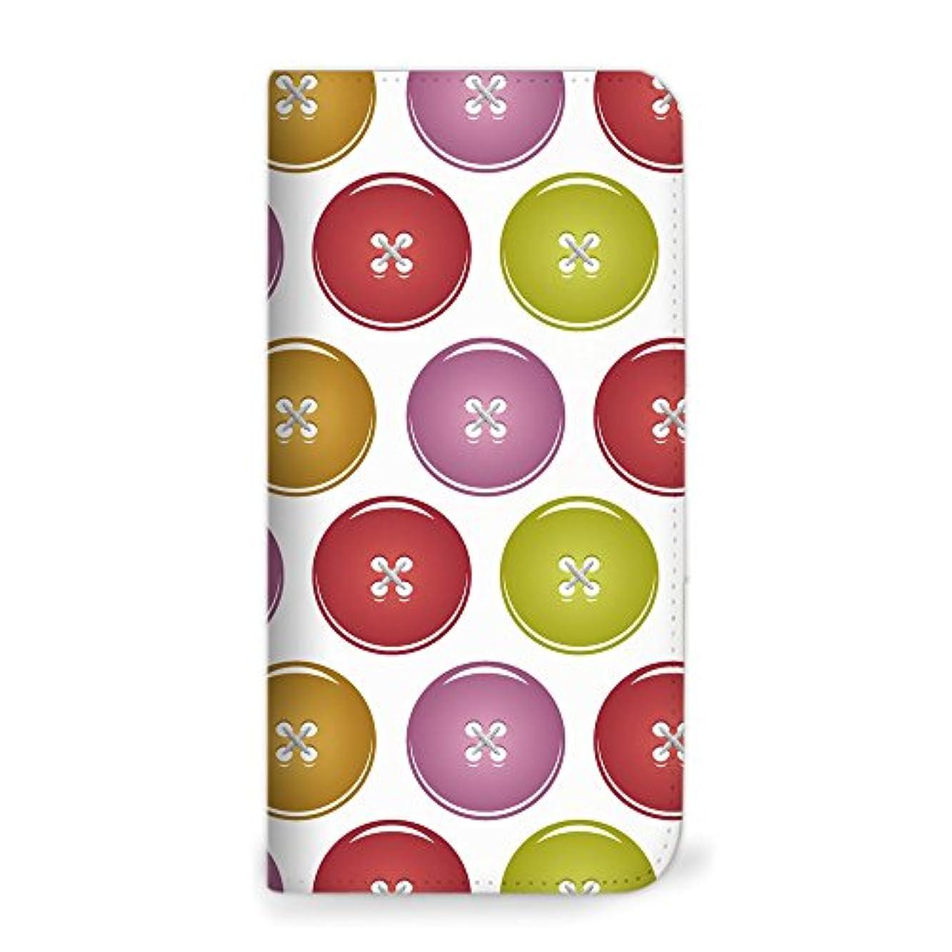 タービンおなじみのチョップmitas Galaxy S8 Plus SC-03J ケース 手帳型 ベルトなし ボタン柄 レッド (342) NB-0061-RD/SC-03J
