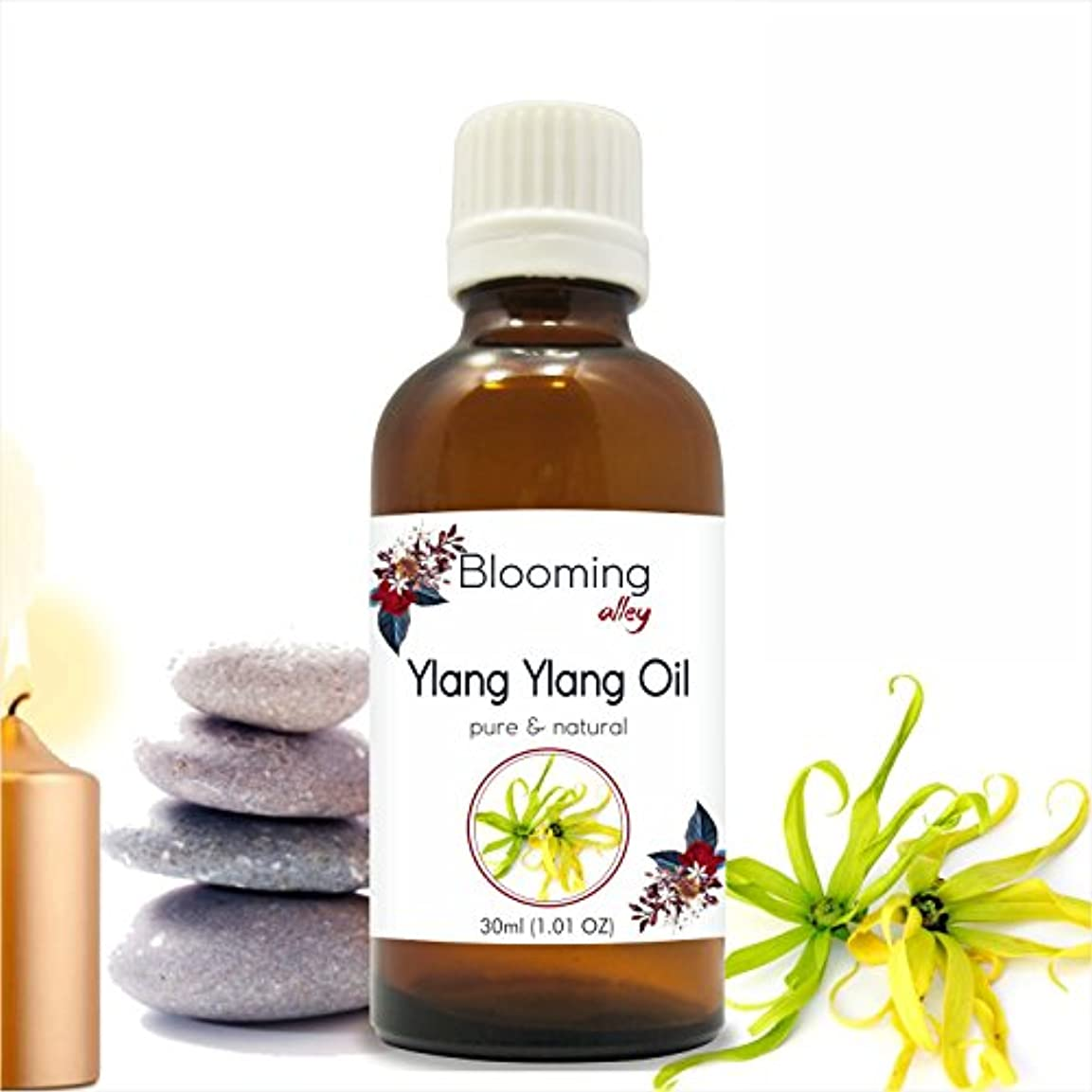 母音準備する雑多なYlang Ylang Oil (Cananga Odorata) Essential Oil 30 ml or 1.0 Fl Oz by Blooming Alley