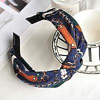 AKDSteel Women Girls Headband Top Knot Turban Headband Cross Bandage Scarf Hair Accessories 23#