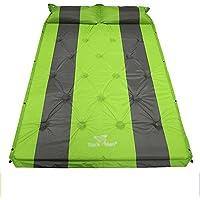 sheng ダブル屋外の膨張クッションのテントは、キャンプ用マットを拡大湿気マットをクッションクッション日没睡眠マット青 ( 色 : 緑 )