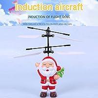 Springdoit サンタクロースリモートセンシング航空機ノベルティおもちゃライトサスペンションモデル子供のクリスマスギフト