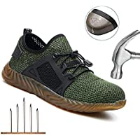 Indestructible Work Shoes, Womdee 2019 New Heavy Duty Sneaker Safety Work Shoes with Steel Toe Cap Breathable Anti-Slip Puncture Proof Trainer Shoes for Men