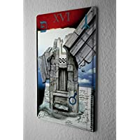 Karl W. R?hrig Tin Sign ブリキ看板 Tarot card XVI The Tower is translated by many tarot