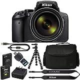 Nikon COOLPIX P900 デジタルカメラ:83倍光学ズームとWi-Fi内蔵(ブラック)+ 64GB 1200X SDXCカード+ 2 EN-EL23 バッテリー+ケース+..