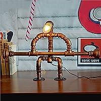 HETAOテーブルランプ、ヴィンテージ鍛造工業スタイル柔らかいアイライト水管ライト金属管ライト14 * 65 * 41センチメートル