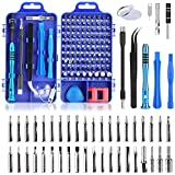 Tobeape 110 in 1 Precision Screwdriver Set with Slotted, Phillips, Torx& More Bits, Non-Slip Magnetic Electronics Tool Kit for Repair iPhone, Android, Computer, Laptop, Watch, Glasses, PC etc
