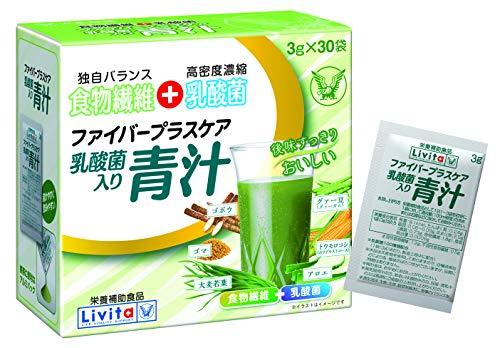 Livita(リビタ) ファイバープラスケア 乳酸菌り青汁 大正製薬 1箱(30本)