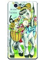 J1 ケース カバー Xperia J1 Compact イオンスマホ キャラクター ポップイニシャルD