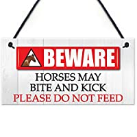 Horses May Bite & Kick Sign Do Not Feed The Horses安定ゲートBeware Horse Equestrian Plaque