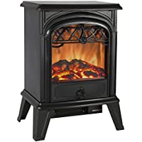 Best Choice Products Free Standing Electric 1500W Fireplace Heater Fire Stove Flame Wood Log Portable by Best Choice Products