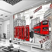 Xueshao カスタム壁紙ヨーロッパ団結都市景観カスタム壁紙壁画リビングルーム装飾的な背景壁-120X100Cm