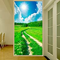 Sproud シームレスなステレオ不織布を角質ケアクロスに 3 D の壁紙背景の壁面 3 田園風景エントランス廊下縦バージョン 350 Cmx 245 Cm の D の壁画
