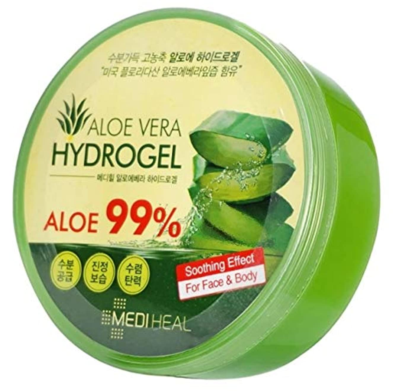 正直顎コントローラMediheal メディヒール Skin Soothing なだめるような & Moisture 水分 99% Aloe アロエ Vera Hydro Gels ハイドロゲル