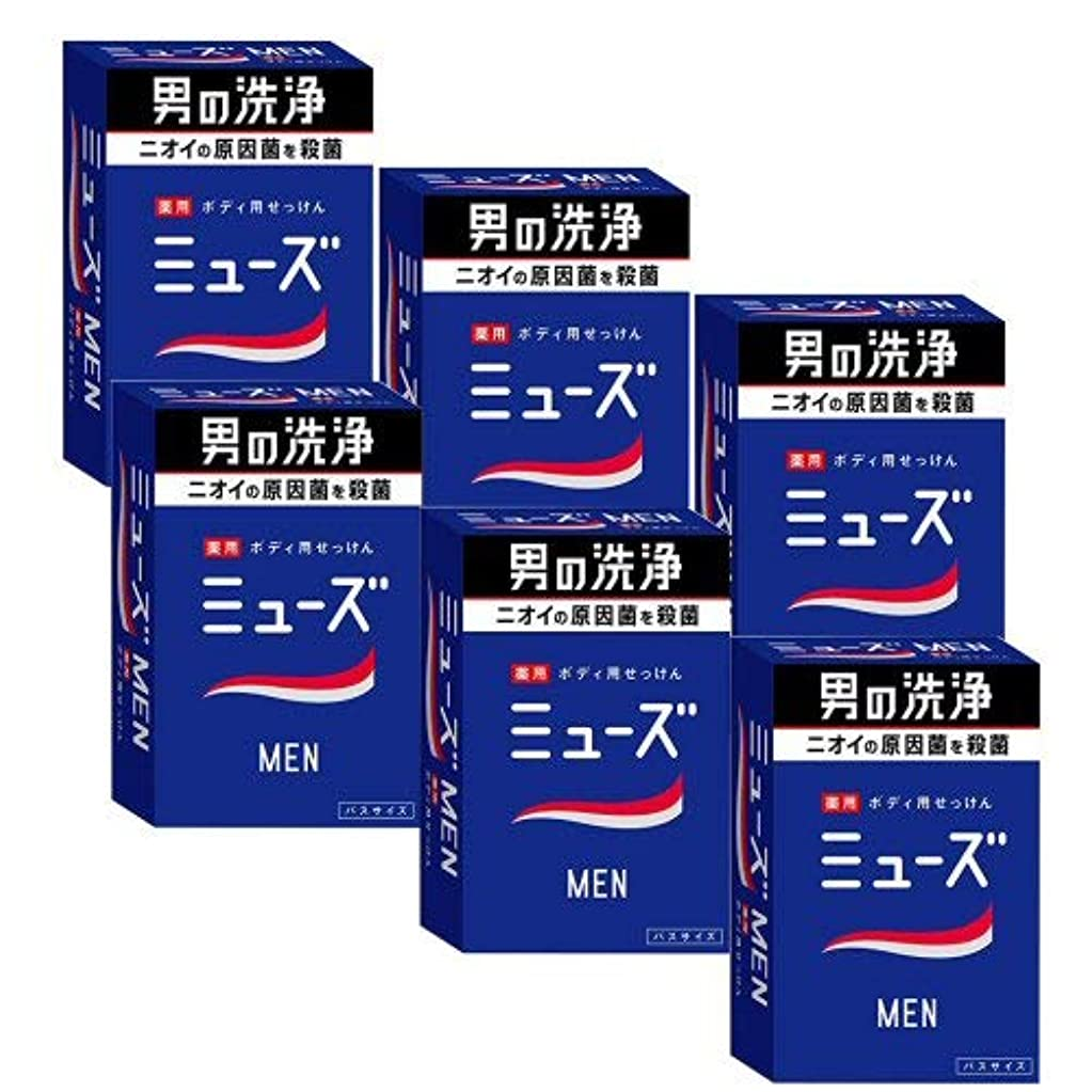 ソーダ水調子メッセージミューズメン薬用石鹸 135g×6個セット